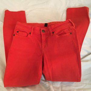 Gap Premium Skinny Orange Jeans